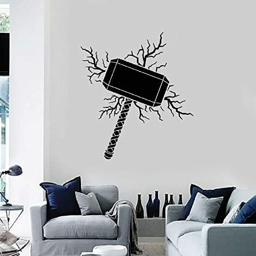 XCJX Thor Hammer Tatuajes de Pared God Crack Cool Style Decoración ...