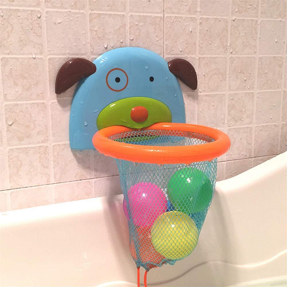 5 Bolas Sunshine D Mini Baloncesto Juguetes de Ba/ño Ba/ñera Divertidos Juegos de Agua Cesta con Forma de Perrito para Bebes Ni/ños Peque/ños