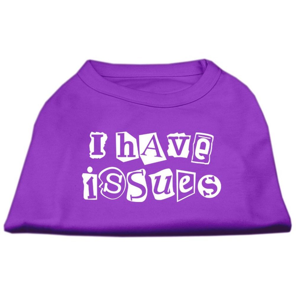 Dog   Cat   Pet Charms I Have Issues Screen Printed Dog Shirt Purple Sm (10)