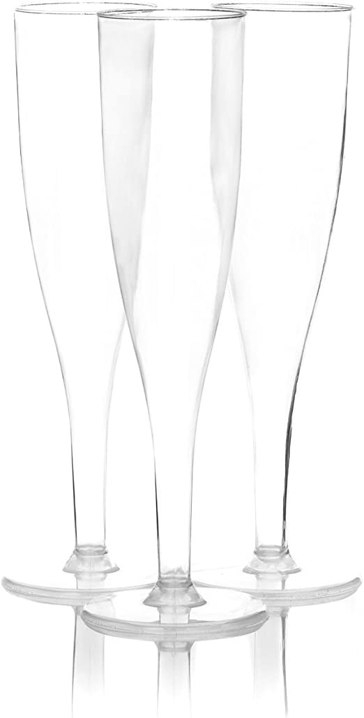Wine Glasses Shot Glasses White Biodegradable Plastic champagne Prosecco Flutes