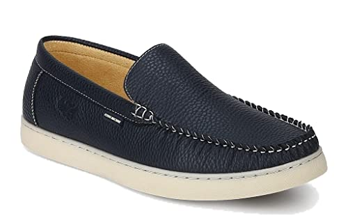 8ac228e5e85 Flying Machine Men s Navy Blue Synthetic Loafers (9 UK)  Buy Online ...