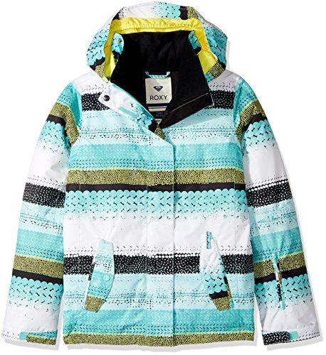 Roxy Big Girls' Jetty Snow Jacket, Aruba Blue_Lizzydots, 8/Small by Roxy