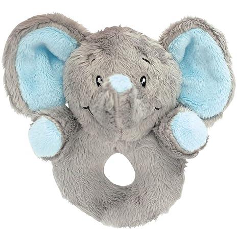 My Teddy My Newborn Sonajero greifling elefante color azul claro ...