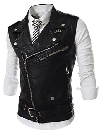 Motorrad Pu Lederweste Kutte Fashion Jacke Brando Motorradweste Bikerweste Men Casual Mode Marken Lederjacke