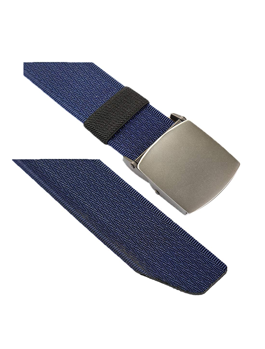 uxcell Unisex Adjustable Canvas Jacquard No Hole Slide Buckle Belt Width 1 1//2 Inches