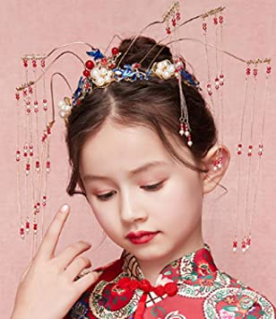 Hanfu tocado para niños disfraz de fénix espectáculo Xiu ...