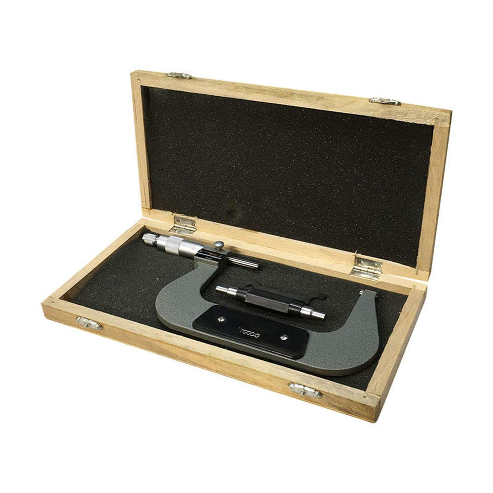 3-4 Inch Screw Thread Micrometer Kit Ratchet Stop With 4 Anvils 0.001 Inch Grad.