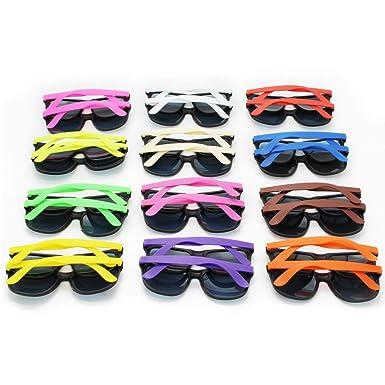 Amazon.com: XKX 24 pcs neón 80 S estilo anteojos de sol ...