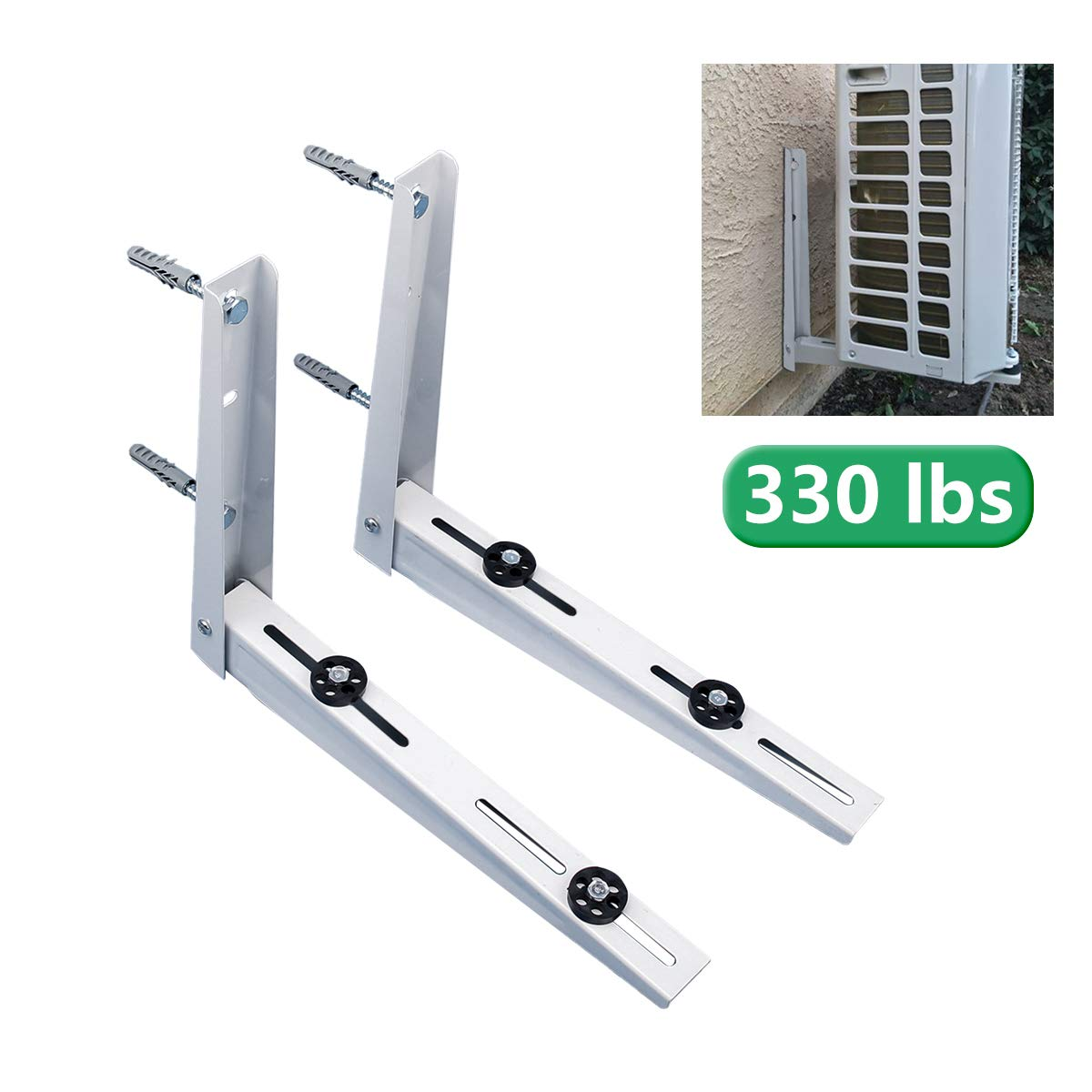 Forestchill Foldable Wall Mount Bracket, fits Mini Split Ductless Outdoor Unit Air Conditioner Condensing Unit Heat Pump System Condenser Universal Design, Support up to 330lbs, 18000-36000 BTU,1-4P by Forestchill