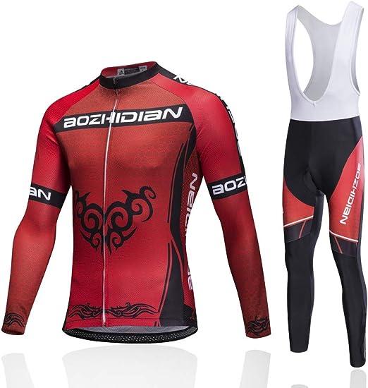 Trajes de ciclismo para hombres, conjunto de ropa de ciclismo de ...