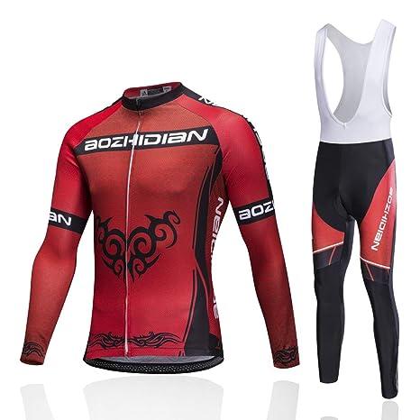 Trajes de ciclismo para hombres, conjunto de ropa de ...