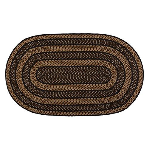 Farmhouse Flooring - Elysee Black (Black Oval Rug)
