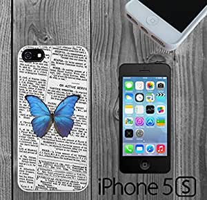 Beautiful Butterfly on Newspaper Custom made Case/Cover/skin FOR iPhone 5/5s