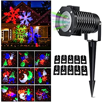 Amazon.com: Star Night Laser Shower Christmas Lights (Red/Green ...