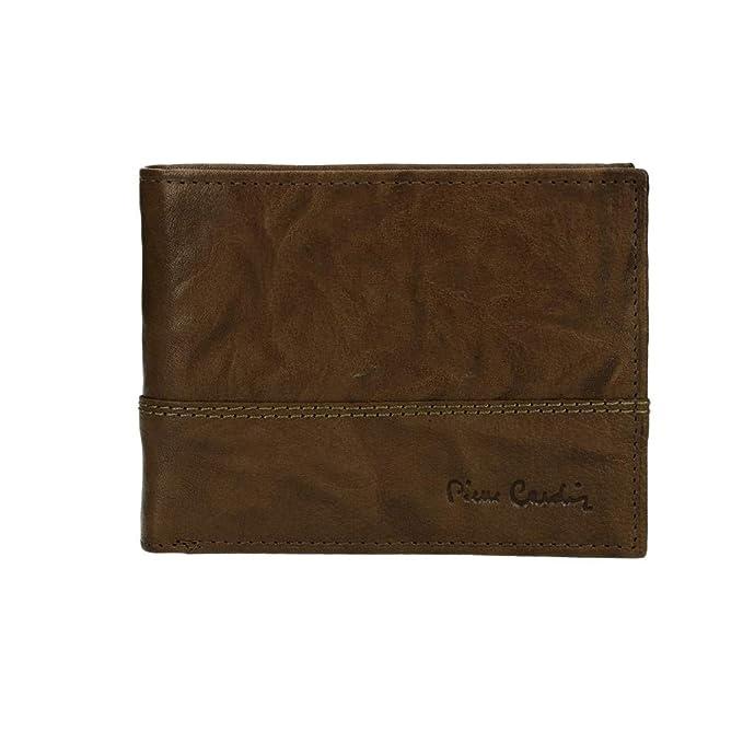 PIERRE CARDIN cartera hombre cuero marrón RFID con monedero y solapa VA2778: Amazon.es: Ropa y accesorios