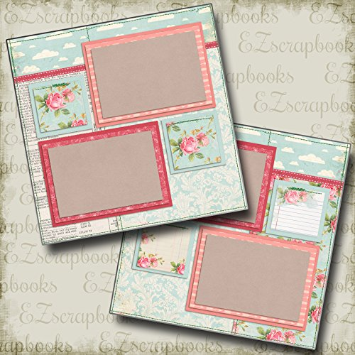 2 12x12 Premade Scrapbook Pages - 9