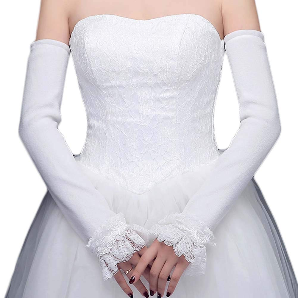 Party Dress Accessories Long Gloves Sleeve High Quality Mesh Bride Lace Hand SM
