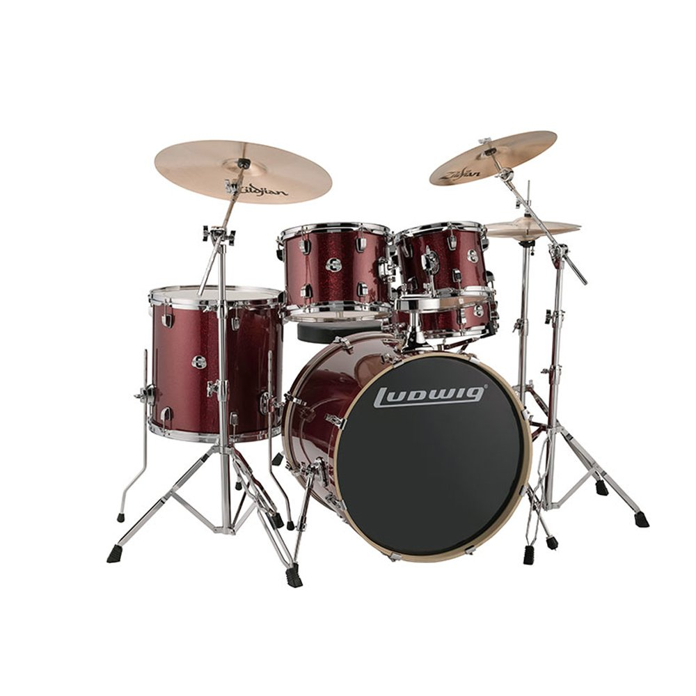 Ludwig Drum Set Red Sparkle LCEE22025