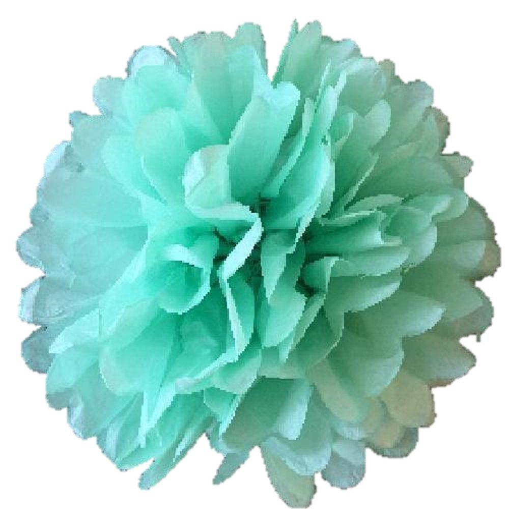 Matissa Paquete de 10 Pompones de Papel de Seda de 15 cm para decoración de Boda o Fiesta de más de 20 Colores para Elegir pompón (Lila)