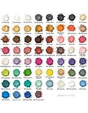 Arteza Polvos de mica, colorante para jabones, pigmentos para resina epoxi, 60 colores, nivel cosmético, botes de 5 gramos, ideal para hacer velas, slime, esmalte de uñas o para bombas de baño