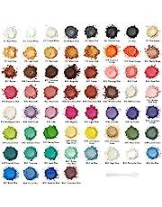 Arteza Mica Powder, Set of 60 Colors, 0.18 oz, Art Supplies for Epoxy Resin