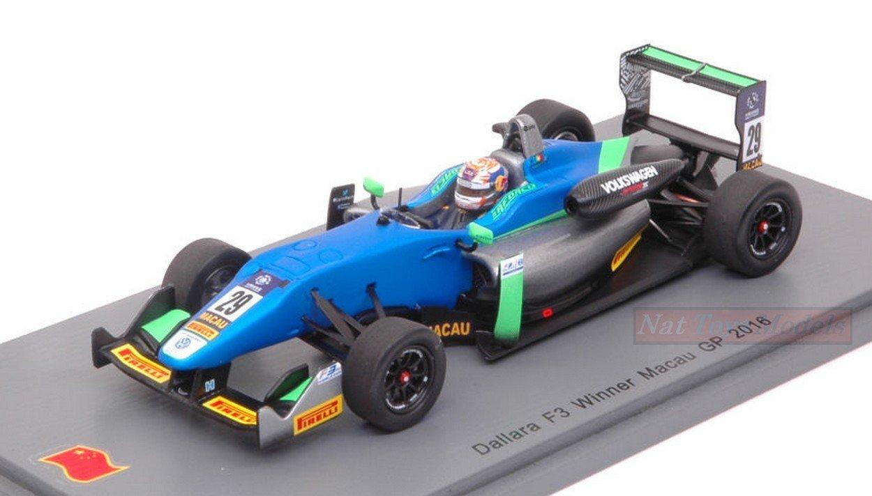 Spark Model S43MF16 S43MF16 Model DALLARA F3 N.29 Macau GP 2016 Antonio Felix DA Costa 1:43 9f4cd6
