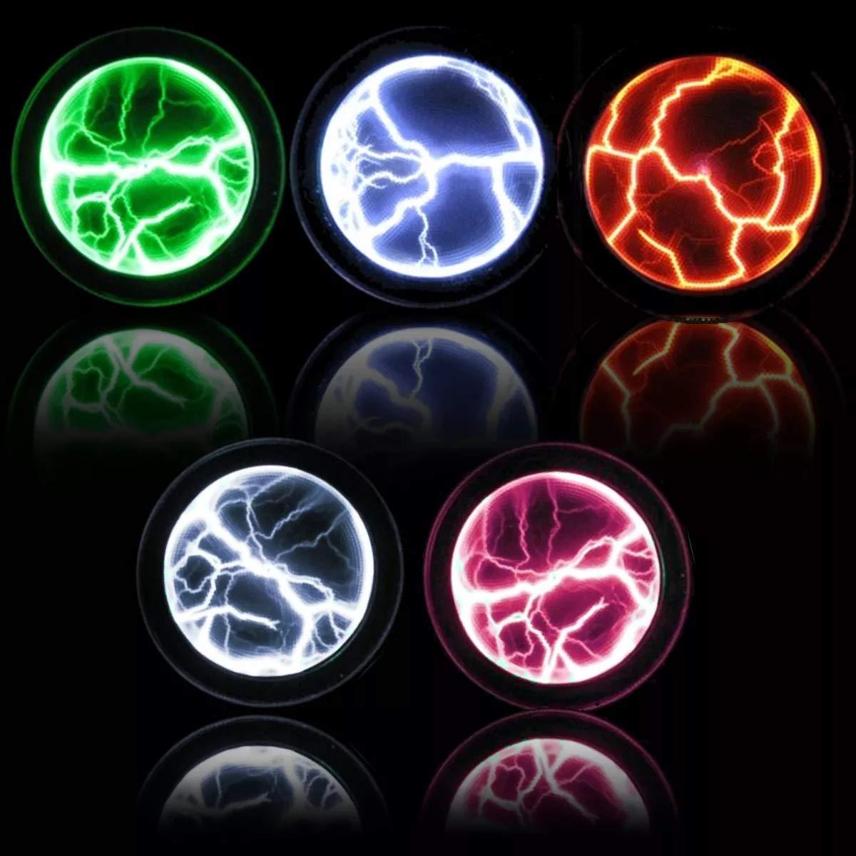 c/ódigo de rendimiento verde discoteca para decoraci/ón del hogar PVC y cristal Disco de plasma colorido con sensor de memoria de plasma fiesta