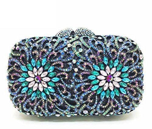 XYXM Lady Clutch Paquete de cena de lujo de la flor del diamante Pack de vestido de lujo hecho a mano de encargo del monedero del bolso del bolso , color color