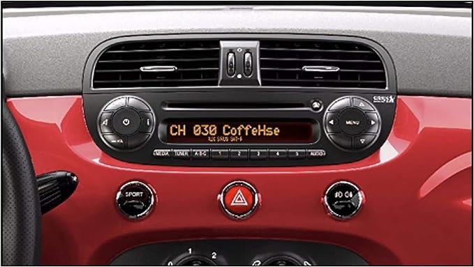 Amazon.com: Adhesivo para radio USA Fiat 500 con botones de ...