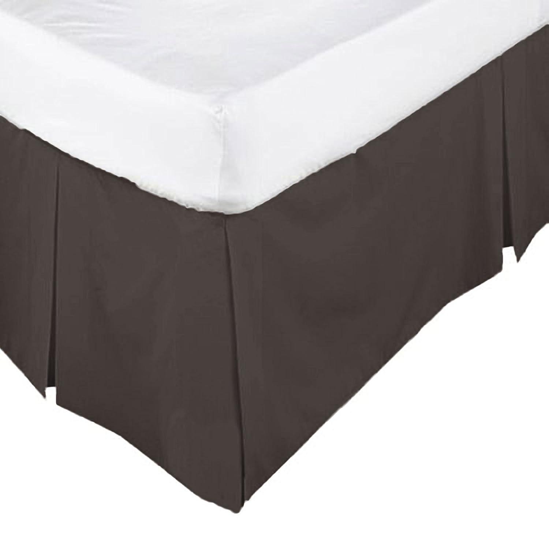 /•ROHILinen/• Luxury 68 Pick Chocolate Double Base Valance sheet
