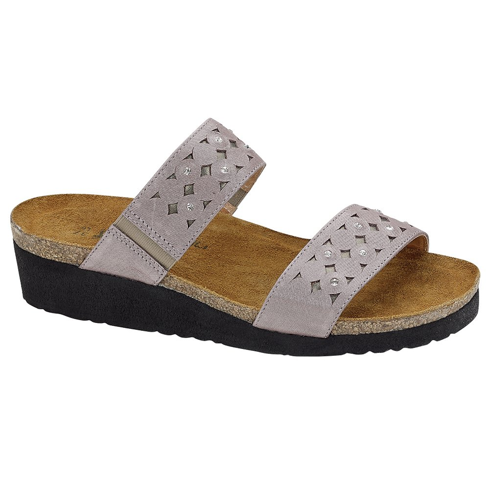 NAOT Susan Elegant Women Sandals, Silver Threads/Glass Silver,Size - 37