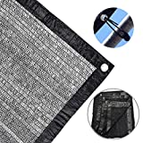 ZJlncpz Sunblock Shade Cloth 50%-60% Garden Shade Net Black UV Resistant Cut Edge Plant Cover Greenhouse Barn Patio Lawn Flower or Kennel (6.5ft X 20ft)