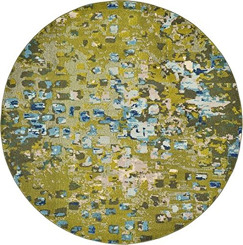 Modern Abstract Rugs Green 8' x 8' FT (244cm x 244cm) Barcelona Contemporary Area Rug [Bedroom] [Livingroom] [Sitting-room] [Rugs] Carpet - Barcelona Square