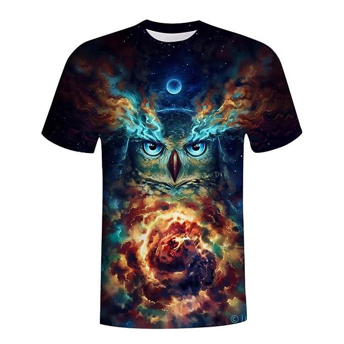 eb0c3d5fdf7c Sports Herren Shirt Kanpola Slim Fit Aufdruck Rundhalsausschnitt Sweatshirt T  Shirts Top Bluse (Schwarz,