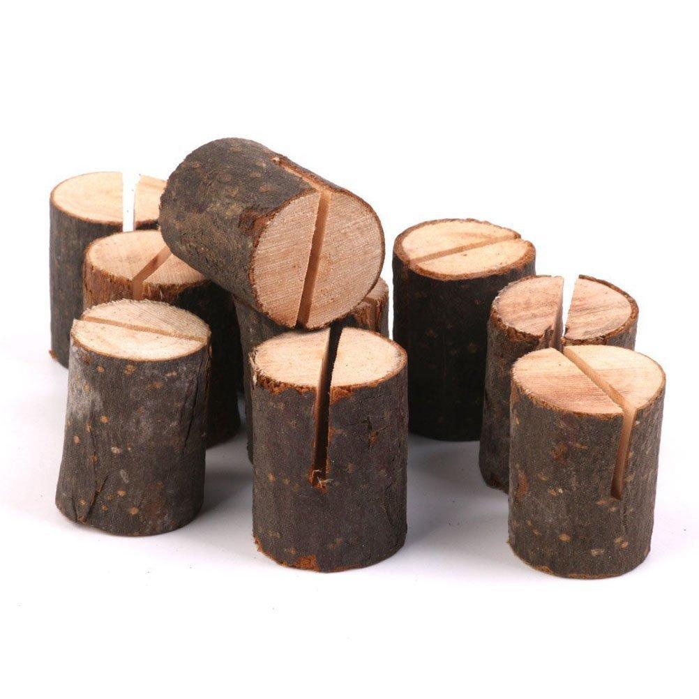 Vorcool - Set di 10 segnaposto in legno, ideali per matrimonio