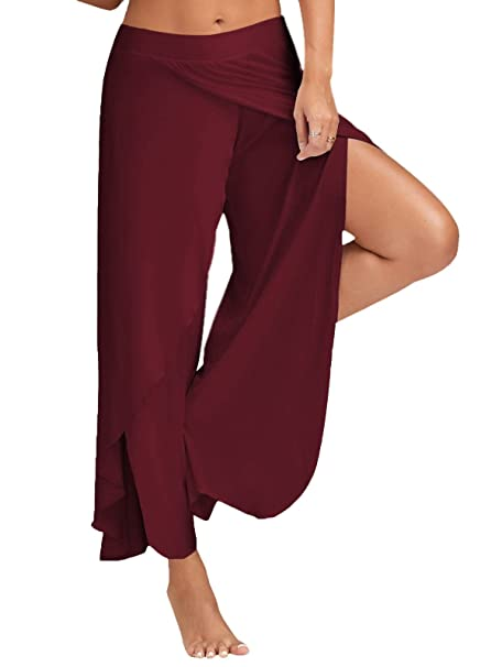 Minetom Mujer Casual Color Sólido Delgado De Pantalones De ...