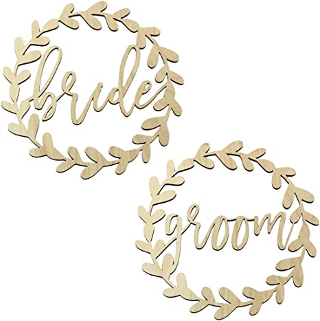 Amazon Com Koyal Wholesale Wood Sign Wedding Display Party Banner Event Decorations Bride Groom Wreath Health Personal Care