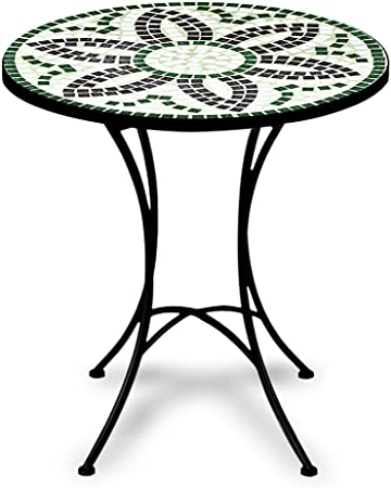 FLORA 60cm fer et mosaïque guéridon Diamètre Table forgé 34jRA5Lcq