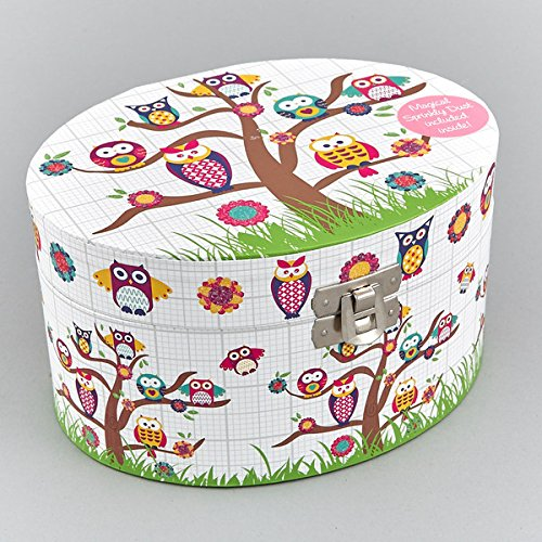 Childrens Musical Jewellery Box Owls Design NEW Boxed Gift