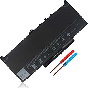 7.6V 55WH J60J5 Battery Replacement for Dell Latitude 12-E727014-E7470 7270 7240 E7270 P26S P26S001 E7470 P61G P61G001 Fits 451-BBSY 451-BBSX 451-BBSU WYWJ2 F1KTM NJJ2H 5F08V