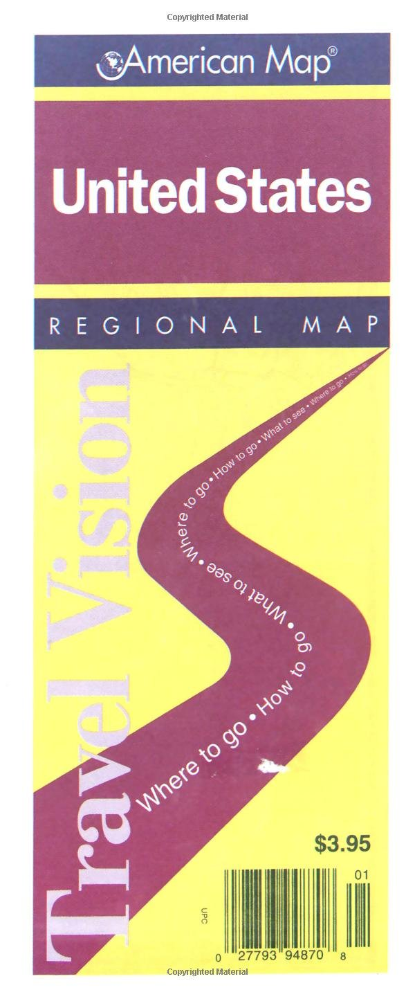 U S Regional Map Travel Vision American Map Corporation