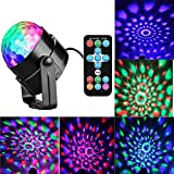 LED Disco Ball Party Lights, with Remote Control Dj Lighting Sound Activated Lights 3W 7-Modes Disco Stage Light for Home Dance Parties Birthday DJ Bar Karaoke Xmas Club Pub