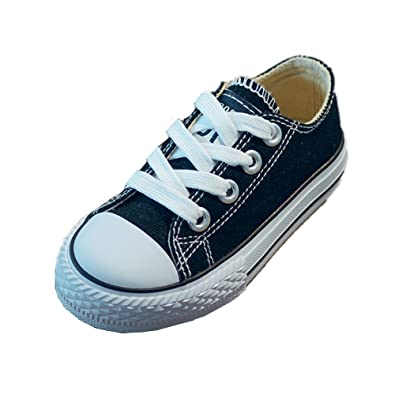 e42c64460c9ee2 Toddler Little Big Kid Boys and Girls Slip On Canvas Sneakers Classic Lace-