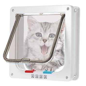 Epet Gato Tapa Perros Tapa Pet türklappe 4 Posibilidades magnética Cierre de Puerta para Gatos,