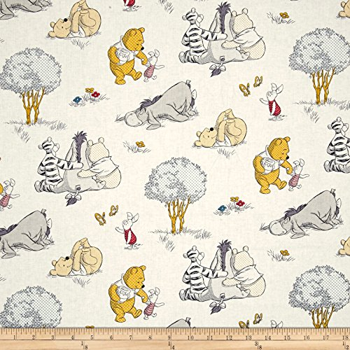 Springs Creative Products Disney Pooh Nursery A Togetherish Sort of Day Multi Fabric by The Yard,