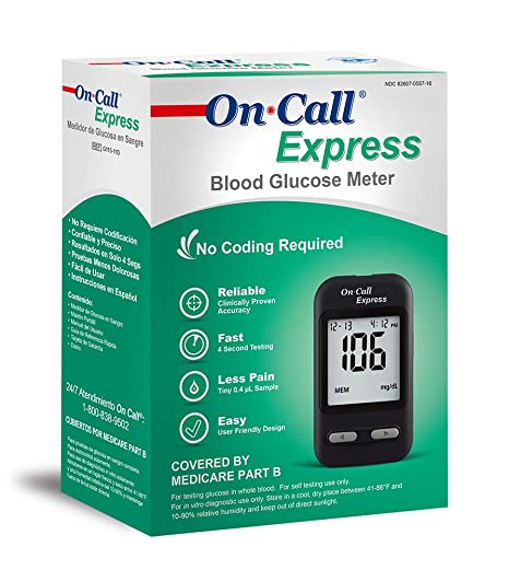 Amazon.com: On Call Express G115 – 11d Glucosa En La Sangre ...