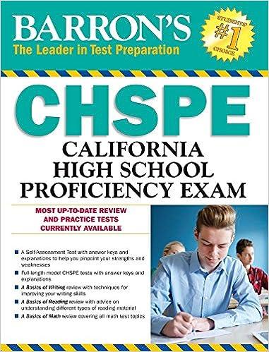 Amazon barrons chspe 9th edition california high school barrons chspe 9th edition california high school proficiency exam 9th edition fandeluxe Images