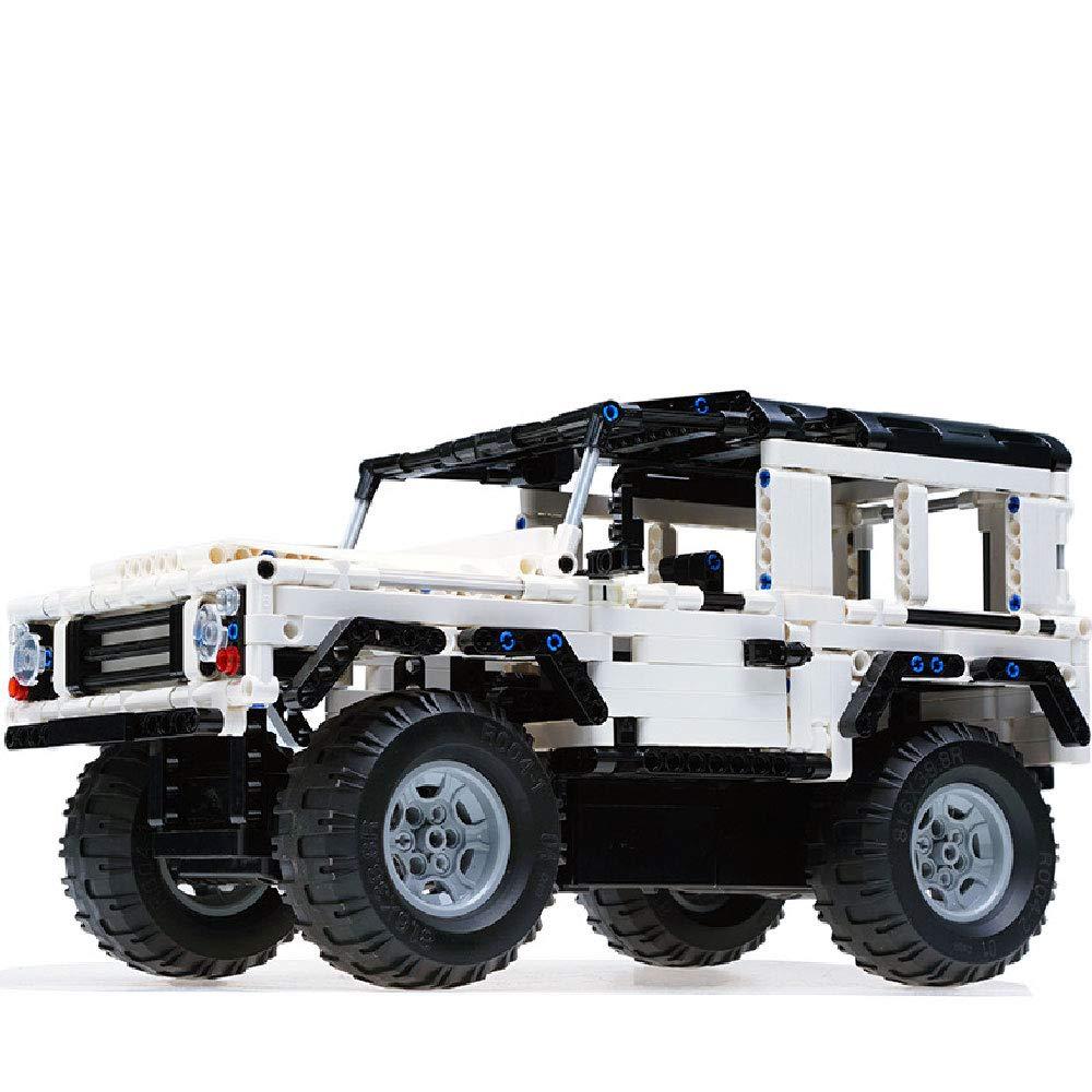 ILYO Fernbedienungs Fahrzeug Geländewagen Montiert DIY Spielzeug 2,4 G Fernbedienung Betriebssystem Aufladen Boy Puzzle Bausteine