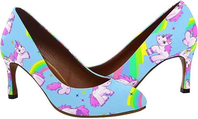 D-Story Unicorn Womens Sexy Stiletto