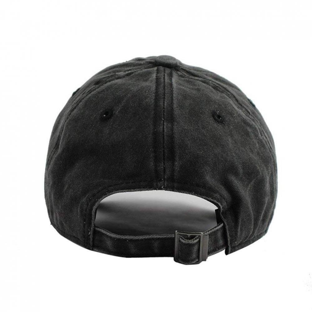 Hoswee Unisex Kappe//Baseballkappe Fleur De Lis Washed Retro Adjustable Denim Hat Gym Caps for Man and Woman